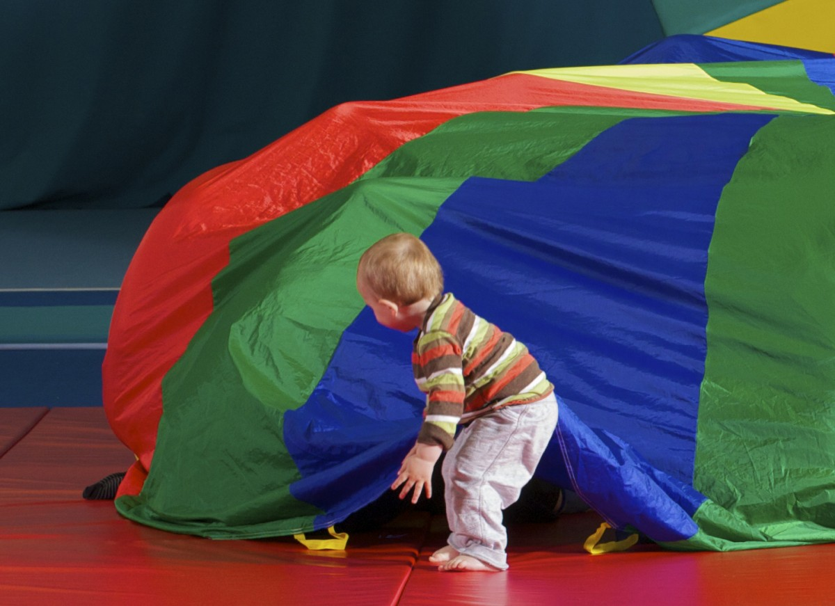 child with tent